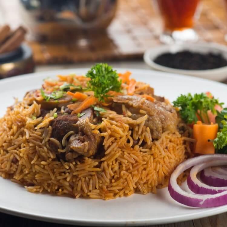 الرز البخاري بطريقته الاصلية