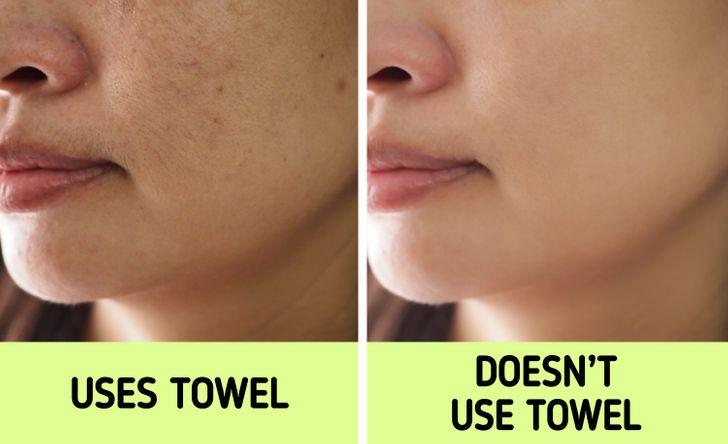 لماذا لا يجب استخدام منشفة لتجفيف وجهك ؟! وما البديل ؟!