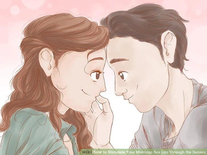 كيفيه تحفيز الحياة الجنسية مع زوجك من خلال الحواس