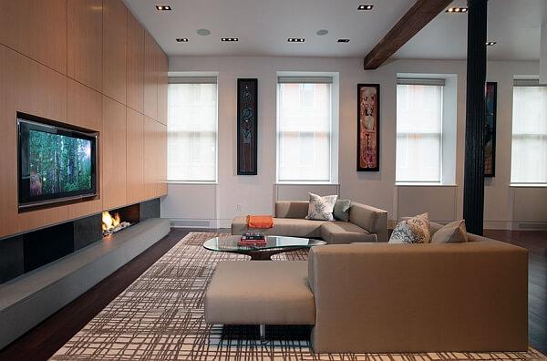 قواعد المصممين في اختيار اثاث غرف المعيشة العائلية