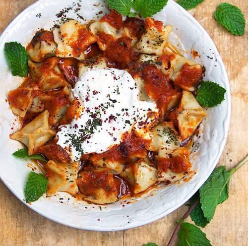 المانتي من المطبخ التركي