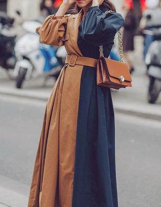 موضة الفساتين الـWrap ذات اللونين المختلفين
