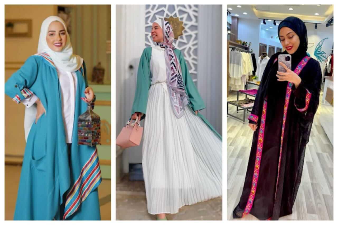 4 طرق أنيقة لارتداء القفطان مع الحجاب في رمضان!